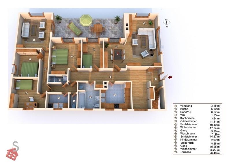 Vorschau von Plan Wohnbereich